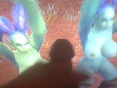 Two Orc porn Sluts Dance For Cum hub (Orc-Slut and her friend)