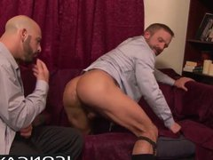 Dirk Caber and Adam anal Russo fuck ramming each other hard on the bed