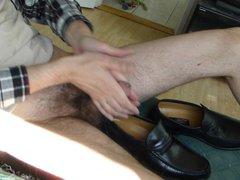 Cum in men's dress anal shoe