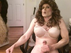 big brown hair gonzo crossdresser