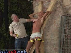Hairy ass men bondage anal gay fuck first time Slave