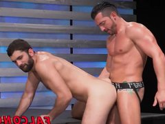 Hot action porn happening with two big hub dick hunks at show