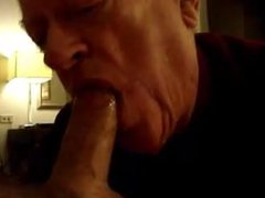 Grandpa sucking a nice tube cock