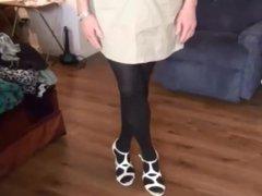 Naughty sex Gigi shows off xnxx her new skirt