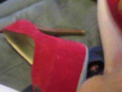 Cumming My sexy Red tube Platform galore Peep Toes