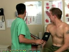 Male doctor instructing nude anal male fuck uncut patient and real male military