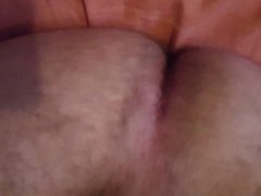 Hairy guy porn shows cock and ass