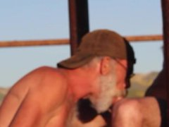Off-Roading Naked and gonzo Head at Abandoned xxx Cattle Ranch