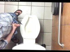 Guy sex Jacks off in xnxx Public Washroom