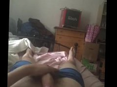 Teen boy waking up anal and fuck cums hard on hos stomach