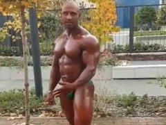 Gay muscle posing