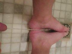 Peeing on my gonzo feet