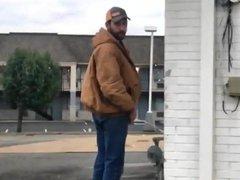 Caught - porn Pissing on the street hub (Bearded guy)