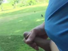 Thick cock cumming on anal golf fuck course