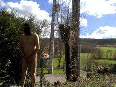 outdoor sex flash and cum