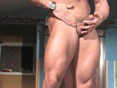 Muscle sex God Buck Branson xnxx Muscle Flexing Jerk Off & Cums