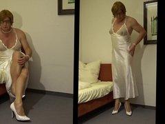I love porn crossdress as a Girl hub in Satin 53