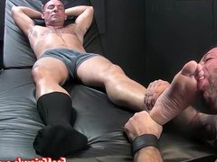 Franco strokes porn his cock on Russ hub feet and gives him a blowjob