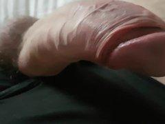 Nylon pantie tied gonzo cock play
