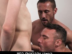 Hunk Step porn Dad And His Best hub Friend Take Turns On Step Son