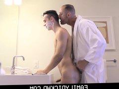 Stepdad And porn Twink Step Son Fuck hub After Needing Help Shaving