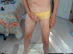 Peeing sex and cumming in xnxx panties