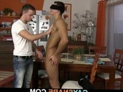 Blindfolded guy porn gets his cock sucked hub before gay sex