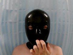 masking and porn unmasking rubber mask with hub nasal tubes