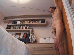 Self Bondage porn Zipper Challenge
