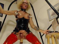 Bobbie machine porn fucking herself