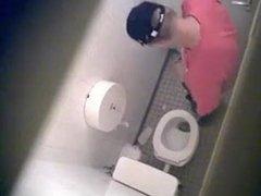Caught sex Stroke and Cum xnxx in Public Toilet