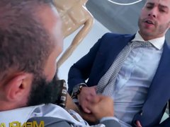 Classy hunk gives gonzo a sloppy blowjob xxx and has his ass drilled