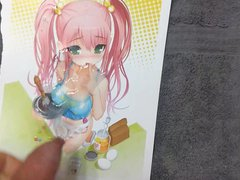 Anime girl cum tribute