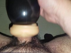 Small hairy cock gets tube hard galore in Perfect Stroke Masturbator