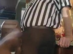 Blowing the porn Ref