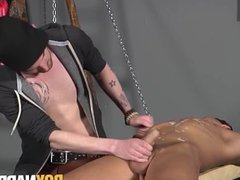 Punishment for submissive bound anal man fuck by his sadist master